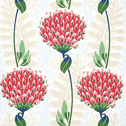 Thibaut Tiverton Wallpaper in Red